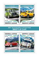 SIERRA LEONE 2018 - Volkswagen Beetle Car - Mi 9599-9602 - Automobili