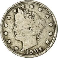 Monnaie, États-Unis, Liberty Nickel, 5 Cents, 1904, U.S. Mint, Philadelphie - Federal Issues