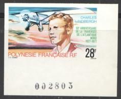 Charles Lindberg, Aviateur Yv PA 125  Non-dentelé ** - Imperforates, Proofs & Errors