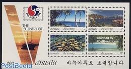 Vanuatu 1994 Philakorea S/s, (Mint NH), Transport - Ships And Boats - Nature - Fish - Stamps - Phila.. - Vanuatu (1980-...)