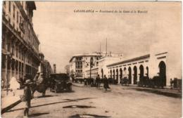 3XM 710 CPA - CASABLANCA - BOULEVARD DE LA GARE ET LE MARCHE - Casablanca