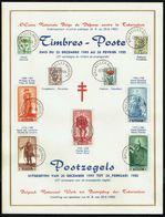 """Belgique - C.O.B. N° 814/822 - Feuillet Souvenir - Antituberculeux - """"Fleurs Variées Et Portraits Du Sénat IV"""". - Feuillets"""