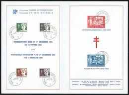 """Belgique - C.O.B. N° 955/960 - Feuillet Souvenir - Antituberculeux - """"Tête D'enfant, Tableau D'Anto CARTE"""". - Feuillets"""