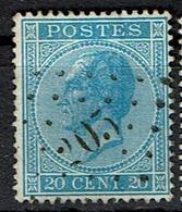 18A  Obl  LP 205 Lanaker (+15) - 1865-1866 Profil Gauche