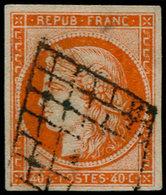 O FRANCE - Poste - 5, Faux De Spérati, Signé + Certificat Calves - 1849-1850 Cérès