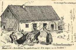 La Bresse Humoristique On Va Essayer D'autres Moyen  .. Cochon RV Timbre10C Beau Cachet Chateauneuf De Galorgue V - Unclassified