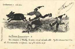 La Bresse Humoristique Entetement à Volte Face  .. Cochon RV Timbre5C Beau Cachet Chateauneuf De Galorgue V - Unclassified