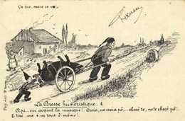 La Bresse Humoristique Ca Tire Mais Ca Va   .. Cochon RV Timbre5C Beau Cachet Chateauneuf De Galorgue V - Unclassified