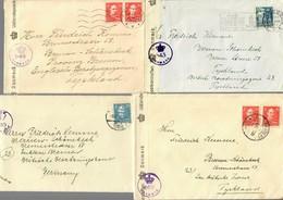 5x Covers Denmark, Odense, Silkeborg, Aarhus To Germany, British Censor 1946 - Dänemark