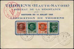 O FRANCE - Libération (N° Et Cote Mayer) - Thorens 1/4, Sur Carte Souvenir Du 14/7/44 - Bevrijding