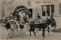 CPA ROMA Carrettiere Da Vino ITALY (a4860) - Transports