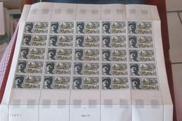 France Feuille Entière De 25  Exemplaires N** MNH   1969     CAT YT  N° 1607   N**  MNH - Full Sheets