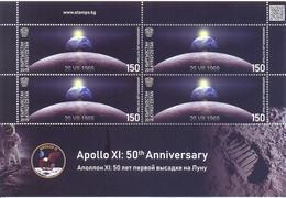 2019. Kyrgyzstan, Space, Apollo XI, 50y Of First Moon Landing, Sheetlet, Mint/** - Kyrgyzstan