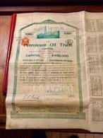 THE  PETROLEU IL  TRUST , LIMITED ------- Action Ordinaire  De  20£ - Pétrole