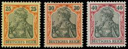 * ALL. EMPIRE - Poste - 71/73, Sans Filigrane: 25 - 30 - 40pf. Germania - Duitsland