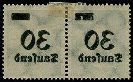 * ALL. EMPIRE - Poste - 260, Paire Surcharge Recto-verso, 30t. S .10m. Bleu - Duitsland