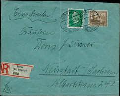 ALL. EMPIRE - Poste - 434, Sur Enveloppe Recommandée 3/1/31: 50+25pf. Brun (pli D'archive) (Michel 453) - Duitsland