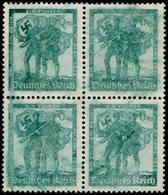 * ALL. EMPIRE - Poste - 606, Bloc De 4, Impression Très Dépouillée: Réunion De L'Autriche (2 Ex. **) - Duitsland