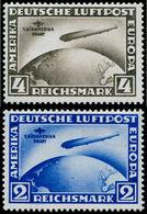 * ALL. EMPIRE - Poste Aérienne - 38/39, Complet: Zeppelin Sudamerika Fahrt - Duitsland