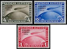 * ALL. EMPIRE - Poste Aérienne - 40/42, Complet, Signés Calves: Zeppelin Polar Fahrt - Duitsland