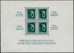 ** ALL. EMPIRE - Blocs Feuillets - 10, Avec Inscription 25 Rpf Dans Les Marges: Hitler - Duitsland