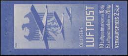 ** ALL. EMPIRE - Carnets - Michel MH 19, Superbe, (Carnet Complet Sauf  L'agrafe): Luftpost - 2 Rm. 1930 - Duitsland