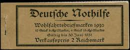 ** ALL. EMPIRE - Carnets - Michel 29.2 (bord Non Dentelé), Manque L'agrafe: Nothilfe 1930 - Duitsland