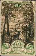 "O ALL. EMPIRE - Entiers Postaux - CP Tsc 3pf. Brun ""Tapo, Aus Wald N° 6"", Illustrée (renard Chassant Un Lapin - Homard) - Duitsland"
