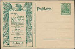N ALL. EMPIRE - Entiers Postaux - Germania, CP Annonces 5pf. Vert (Eppenheim): Aigle Pokare, Musique Harmonium + Thèmes  - Duitsland