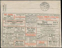 O ALL. EMPIRE - Entiers Publicités Multiples - (1904), Enveloppe 5pf. Vert Série 122 Gera, Publicités Multiples: Bière,  - Duitsland