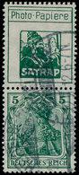 """O ALL. EMPIRE - Timbres De Carnets - Michel S1.13, """"Satrap"""" (petit) + 5pf. Vert - Duitsland"""