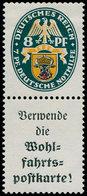 * ALL. EMPIRE - Timbres De Carnets - Michel S 60: A 1 + 8pf. Nothilfe 1928 - Duitsland