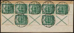 O ALL. EMPIRE - Timbres De Carnets - Michel S 94 + 95, Bloc De 10, Bdf, Sur Petit Fragment: Nothilfe 1931 - Duitsland
