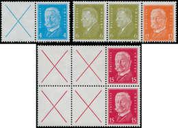 ** ALL. EMPIRE - Timbres De Carnets - 3 Combinaisons, Présidents, (Michel W 26-29/30) - Duitsland