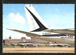 AK Hamburg-Fuhlsbüttel, Flugzeug Boeing 707 F-BHSS Auf Dem Flughafen - Aviazione