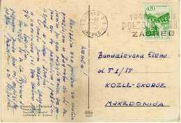 Yugoslavia - Croatia - Zagreb - Slogan / Flamme 1966 - 1945-1992 République Fédérative Populaire De Yougoslavie