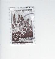 Timbre Issu Du Bloc Trésor De La Philatélie Abbaye Aux Hommes N° 917 Oblitéré - Other