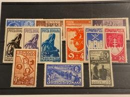 Rumanía Nº 695A/D, 696/701, 702/4. Año 1942/43. - Neufs