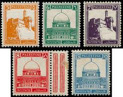 """* PALESTINE - Poste - 66/67 + 68A + 69A + 73 """"Horizontal Ribbed Paper"""" (Bale 93/94 + 105/6a + 108 D) - Palestine"""