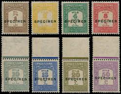 """** PALESTINE - Taxe - 12/19, Surcharge """"spécimen"""", Complet 8 Valeurs (SG 104/11) - Palestine"""