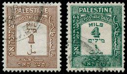O PALESTINE - Taxe - 12a + 14a Dentelés 15x14, Complet (SG D 12a + 14a) - Palestine