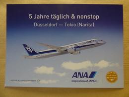 AIRLINE ISSUE / CARTE COMPAGNIE       ANA /   ALL NIPPON AIRWAYS  B 787 - 1946-....: Era Moderna