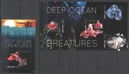F476 2011 SIERRA LEONE DEEP OCEAN CREATURES FISH & MARINE LIFE FAUNA KB+BL MNH - Mundo Aquatico