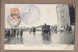 CPA MAROC - CASABLANCA ( Inondations ) - Avenue Du Général Moinier - CATASTROPHE ANIMATION TAMPON MILITAIRE 1912 - Casablanca