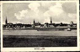 Cp Wesel Am Niederrhein, Teilansicht, Flussansicht, Dampfer - Allemagne