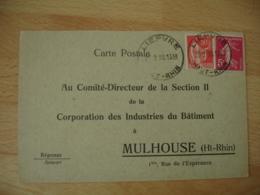 Liepvre Horoplan Cachet Horodateur Sur Lettre - Marcophilie (Lettres)