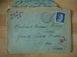 Guerre 39.45 Lettre  Travailleur S T O Pour Neris Les Bains - WW II