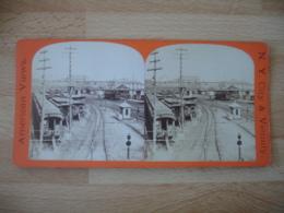 New York  Interieur Gare Train   Usa Photo Stereo Stereoscopique - Photos Stéréoscopiques