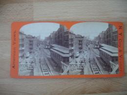 New York  Metro Aerien  Usa Photo Stereo Stereoscopique - Photos Stéréoscopiques