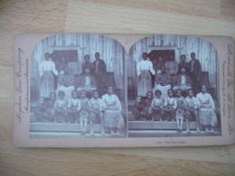 The New South Famille Noire Sud Etats Unis S Usa  Photo Stereo Stereoscopique - Photos Stéréoscopiques